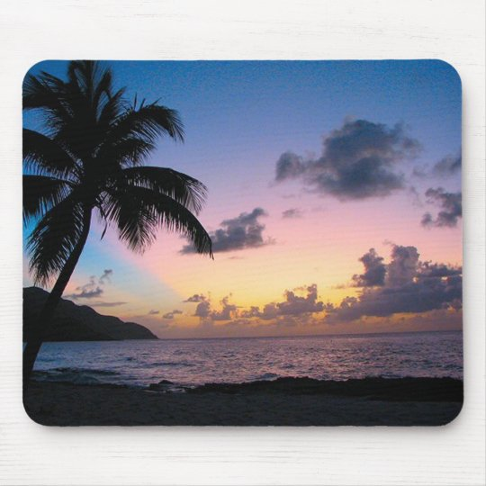 Palm Tree in the Sunset Mouse Mat