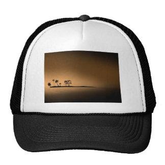Palm-tree-island-sunset1432 GOLDEN PALM ISLAND SUN Trucker Hat