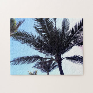 Palm tree jigsaw puzzle