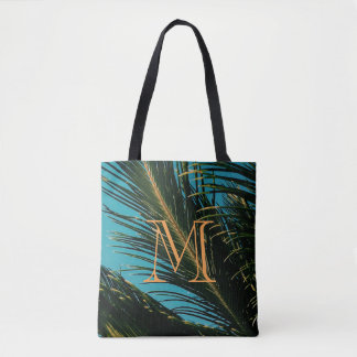 Palm Tree Leaves M Tote Bag