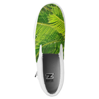 Palm Tree Leaves Tropical Island Slip On Sneakers