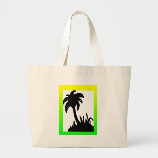 palm tree merchandise large tote bag