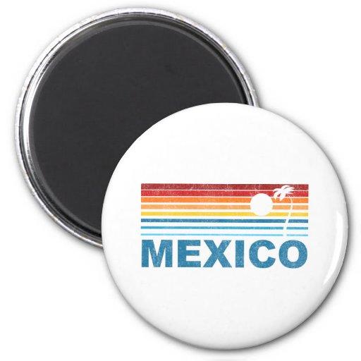 Palm Tree Mexico 6 Cm Round Magnet