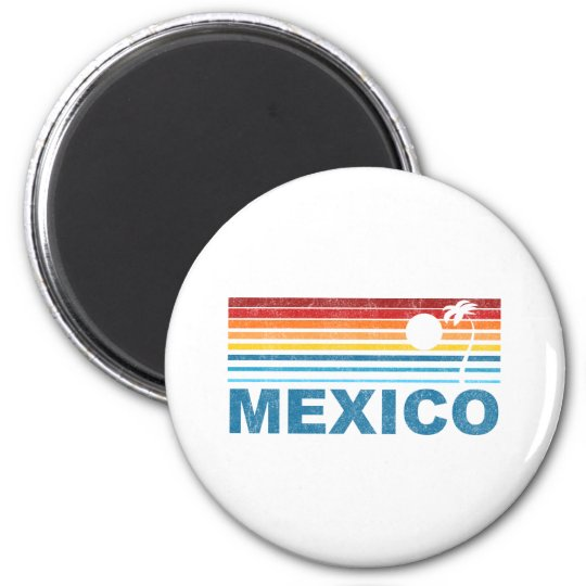Palm Tree Mexico 6 Cm Round Magnet