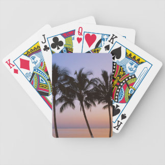 Palm tree, morning bicycle playing cards