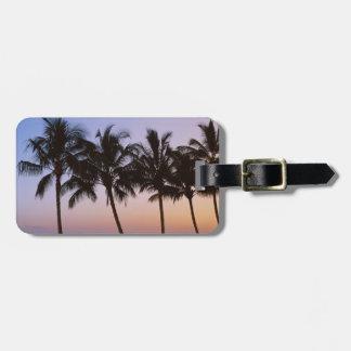 Palm tree, morning luggage tag