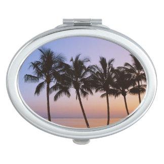 Palm tree, morning vanity mirror