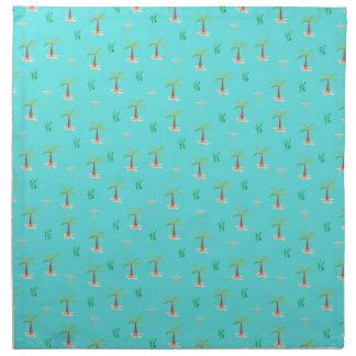 palm tree napkin