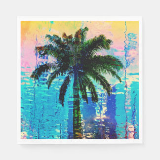 Palm Tree Napkins Disposable Serviette