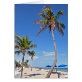 Palm Tree on the Beach Greeting Card