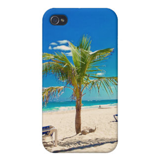 Palm Tree on the Beach iPhone Cover Case For iPhone 4