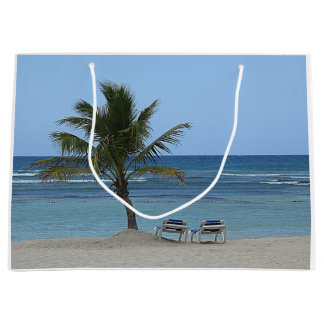 Palm Tree on the Beach Large Gift Bag
