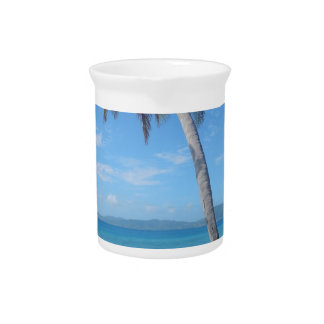 Palm Tree on the Beach Pitcher