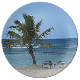 Palm Tree on the Beach Plate