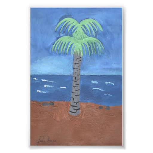 Palm Tree Painting by Julia Hanna Photograph