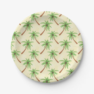 Palm Tree Paper Plate