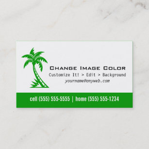 Palm tree business cards zazzle uk palm tree personal business card colourmoves