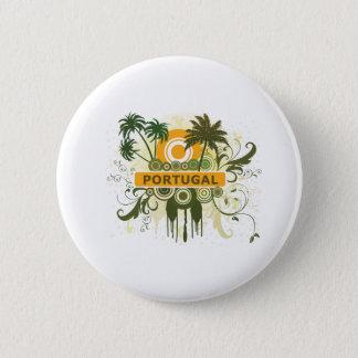 Palm Tree Portugal 6 Cm Round Badge