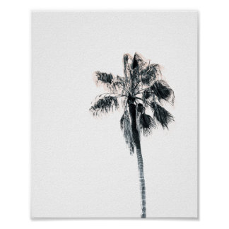 Palm Tree Poster | Pink 8x10