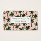 Palm Tree Print Business Cards