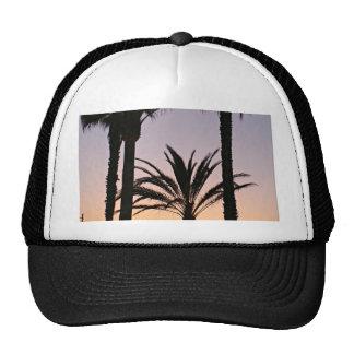 Palm Tree Purple Sunset Photography Trucker Hats