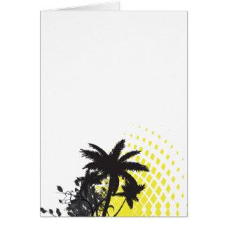palm tree rays greeting card
