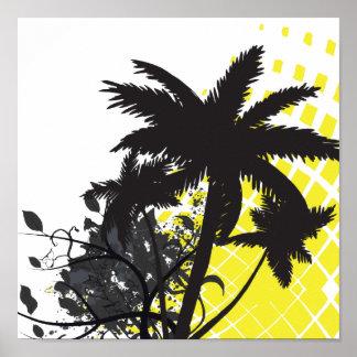 palm tree rays print