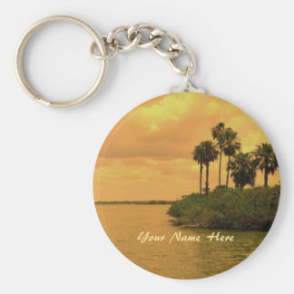 Palm Tree Reverie Custom Key Ring