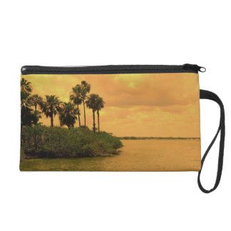 Palm Tree Reverie Wristlet