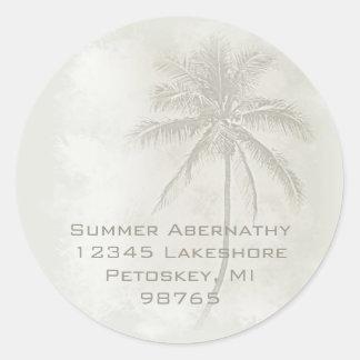 Palm Tree (Sand) Round Sticker