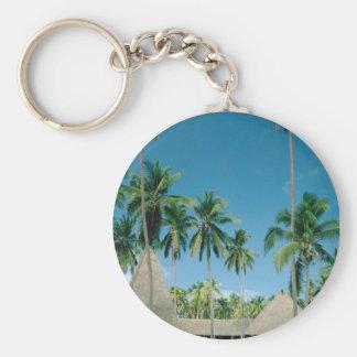 Palm Tree Setting Key Ring