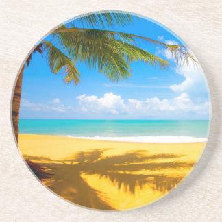 Palm Tree Shadows Beverage Coaster