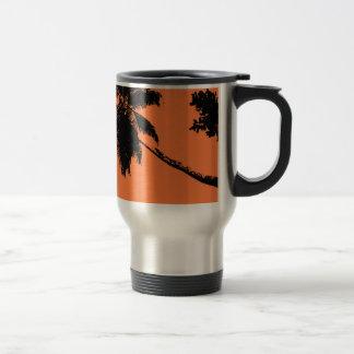 Palm Tree Silhouette Stainless Steel Travel Mug