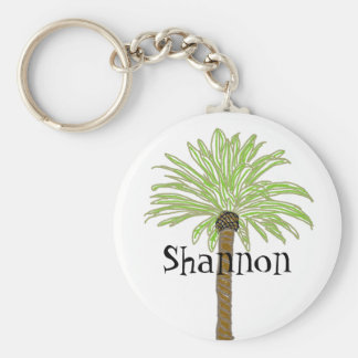 Palm Tree Sketch Key Ring