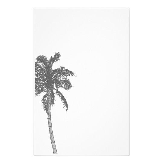 Palm Tree Sketch Stationery