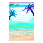Palm Tree Stationary Paper Personalised Stationery