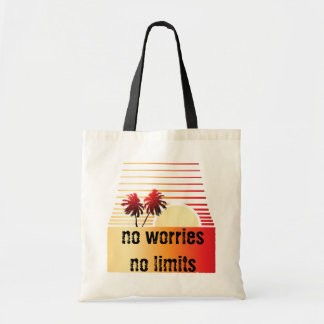 Palm Tree Stylized Sunset Beach Tropical Tote Bag
