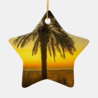 Palm Tree Sunrise Christmas Ornament