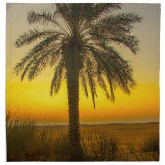 Palm Tree Sunrise Napkin