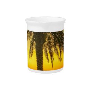 Palm Tree Sunrise Pitcher
