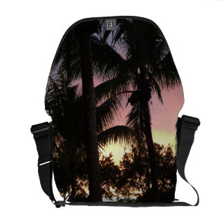 Palm Tree Sunset Courier Bag