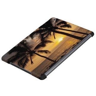 Palm tree sunset iPad air cover