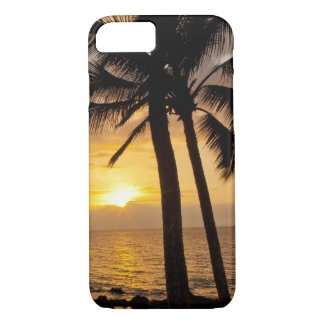 Palm tree sunset iPhone 7 case
