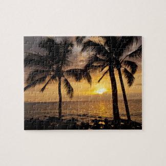 Palm tree sunset jigsaw puzzle