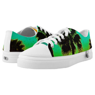 Palm Tree Sunset Shoes!!! Printed Shoes
