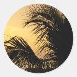 Palm Tree Sunset Thank you sticker
