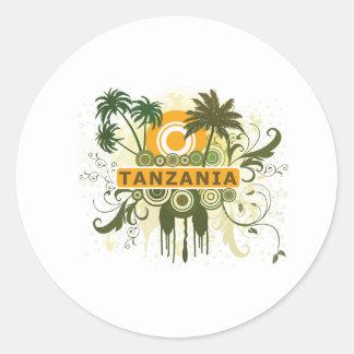 Palm Tree Tanzania Classic Round Sticker