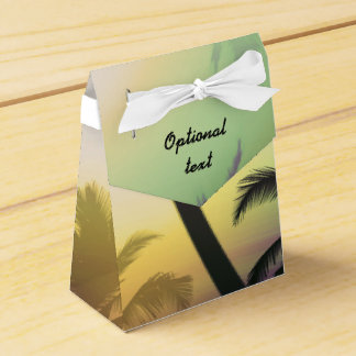 Palm Tree Tropical Heat Beach Party Favor Boxes