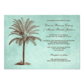 Palm Tree Tropical Wedding Invitation Template