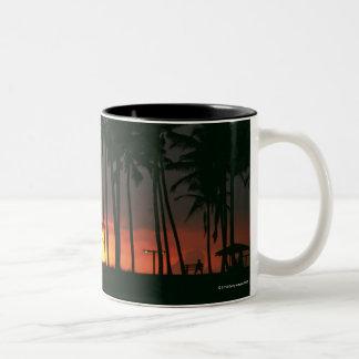 Palm Tree Two-Tone Coffee Mug